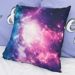 Square Space Galaxy Nebula Decorative Throw PIllow